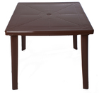 Стол пластиковый квадратный(шоколадный)