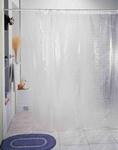 Шторы д/ванн 3D 180х180см белая