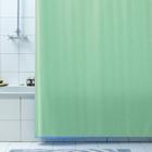 Штора д/ванн 180х200 Rigone зелёная.