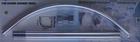 Карниз для в/к дуга хром Zalel 90*90 (блистер)