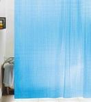 Шторы д/ванн 3D 180х180см голубая