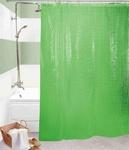 Шторы д/ванн 3D 180х180см зелёная