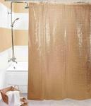 Шторы д/ванн 3D 180х180см коричневая