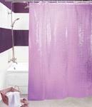 Шторы д/ванн 3D 180х180см фиолетовая