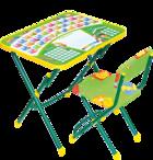 Комплект детской мебели  Nika КУ1/13 Первоклашка (зеленый фон)