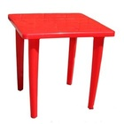 Стол пластиковый квадратный (бордовый)