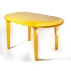 Стол пластиковый овальный (жёлтый)