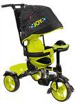 Велосипед детский с музыкальной игрушкой (арт ВД4М)чёрный с лимонным